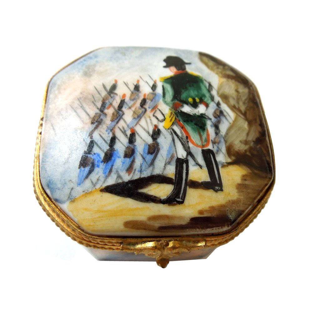 Limoge France Porcelain Hinged Pill Box