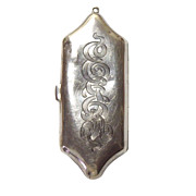 Antique Sterling Chatelaine Coin Holder