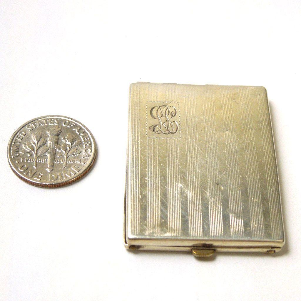 Vintage Sterling Mini Photo Holder Case