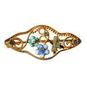Antique 10 Karat Gold Victorian Pin