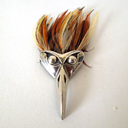 Unusual Brooch with Feathers