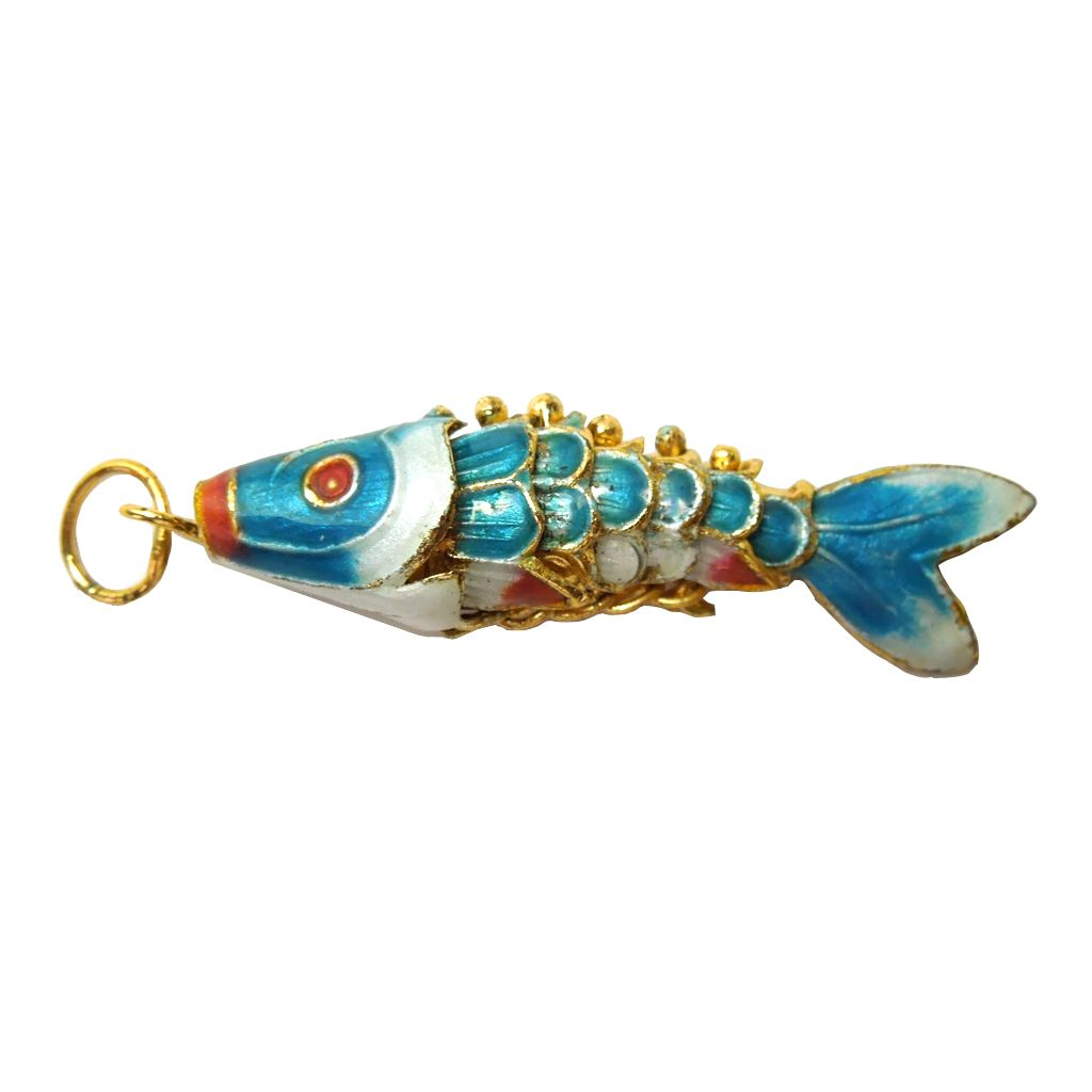 Vintage cloisonne articulate koi pendant sold on ruby lane for Chinese koi fish for sale