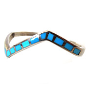 Turquoise Inlaid Sterling Bracelet