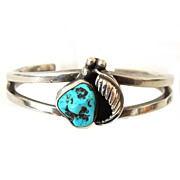 Sterling Cuff Bracelet with Turquoise