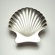 Tiffany & Co Sterling Scallop Shell Plate, circa 1950's