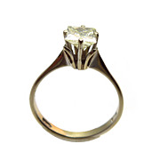 18k Gold Princess Diamond Solitaire Engagement Ring
