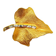 Gold-toned Leaf Brooch