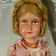 Papier Mache Composition Signed Lenci-Type  Doll