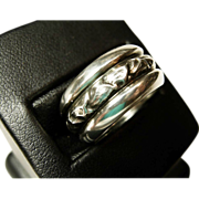 Georg Jensen 10 Gr. Wide St. Band Ring