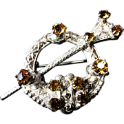"Large ""Ward Brothers"" Garter Sterling Silver Kilt Pin"