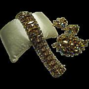 Sherman Bracelet, Brooch and Earrings Set - Exquisite!
