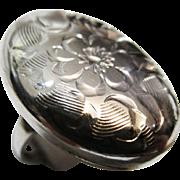 Sterling Silver Engraved Ring - Birks
