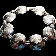 """Bond-Boyd"" Engraved Sterling Silver Bracelet"