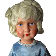 French 1920's Composition Doll with Mohair Wig
