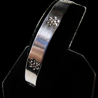 Rare ROYCROFT Sterling Bangle Bracelet