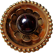 Victorian 14K Gold and Garnet Brooch