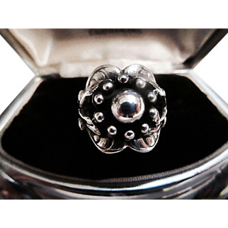 George Jensen Early Design No. 10 Moonlight Blossom Ring