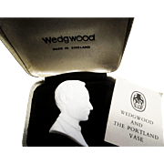Wedgwood Man's Portrait Plaque in Box