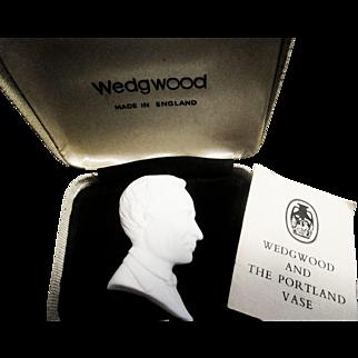 Wedgwood Man's Portrait Plaque in Box
