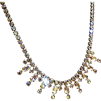 Dazzling Early Sherman Crystal Necklace