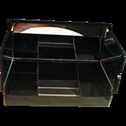 Vintage 1950's Black Jewelry Box