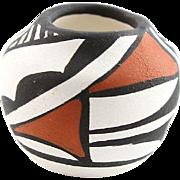 Tiny Vintage Polychrome Southwestern Pot