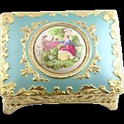 Vintage Enamel Jewelry Casket