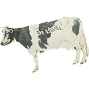 Vintage Tin Cow Advertisement Post Card