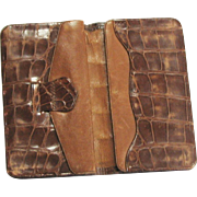 Vintage Light Brown Alligator Wallet