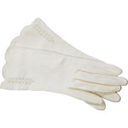 Vintage 1960's White Cotton Gloves