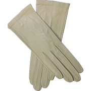 Vintage Butter Soft Kid Leather Gloves Made In France