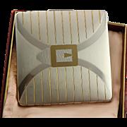 Vintage Art Deco Elgin American Two Tone Metal Compact