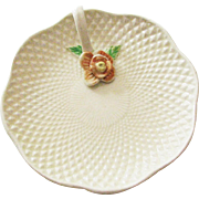 Small Vintage Made In Japan Bon Bon Dish With Flower