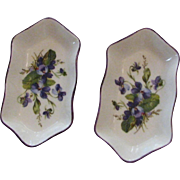 Small Vintage Bone China Small Dishes Marked Crown Staffordshire, England