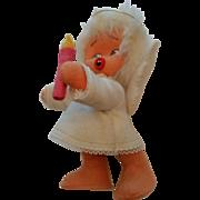 Vintage Handmade Felt Angel, Super Handmade Angel