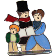 Vintage Stained Glass Carolers