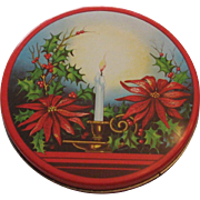 Vintage Christmas Litho Biscuit Tin