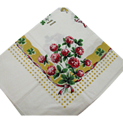 Vintage Silk Screened Kitchen Towel