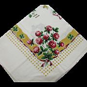 Vintage Silk Screened Kitchen Towel