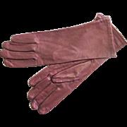 Vintage New Never Worn Kid Leather Dark Maroon Butter Soft Gloves