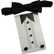 Vintage Black & Silver Studs, Cuff Links & Bow Tie