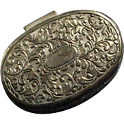 Vintage Small Silver Colored Pot Metal Japanese Jewelry Casket