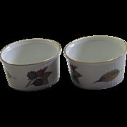 Two Vintage Royal Worcester Fine Porcelain Souffle Cups