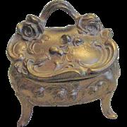 Vintage Casket Trinket Box