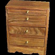 Vintage three Drawer Jewelry Box