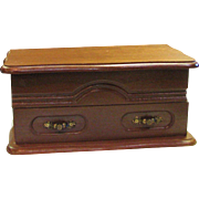 Wonderful Vintage Wood Jewelry Box With Drawer