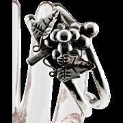 Signed Sterling Grapes Bracelet