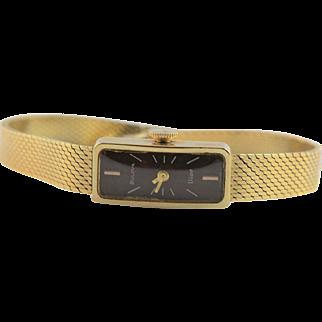 Marvelous Vintage 14k Gold Dior Designed Bulova Watch