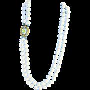 Wonderful Hobe` Vintage German Glass Clasp Necklace