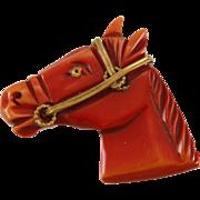 SALE     Famous Vintage Bakelite Horse Brooch